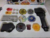 free shipping beyblade set(4beyblades +1handles +2 launchers )as children birthday gift,