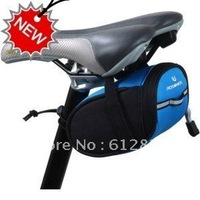 Free Shipping Bicycle Mini Saddle Bag Bike Rear Seat Pannier Blue Color