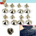 10mm 100pcs DIY StudS Rivets Bump Spike Silver Bullet Spots Punk Leathercraft Clothing Accessories 6639(China (Mainland))