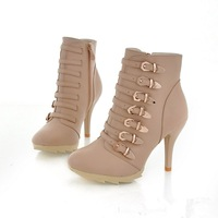 women 's fashion boots, sexy rivets Ankle boots freeshipping , high heel skidproof sole boots  H- SK12-2