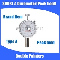 Free shipping Type A Shore Hardness Tester Meter Rubber shore Durometer Double Pointers Peak Hold