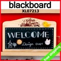 FREE SHIPPING Blackboard Wood hang store home decoration chalkboard eraser message Promotion Gift 2sets/Lot Say Hi XL 07213