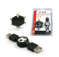 Free Shipping 6 in 1 USB Multi-Function Travel Charging Cable USB Computer Adapter for Phone MP4 PDA