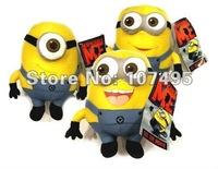 "Wholesale 10pcs/Lot 3D Eyes Despicable Me Minions 9.8"" Plush Toys Doll Stuffed Wenlock toys Dave Jorge Stewart"