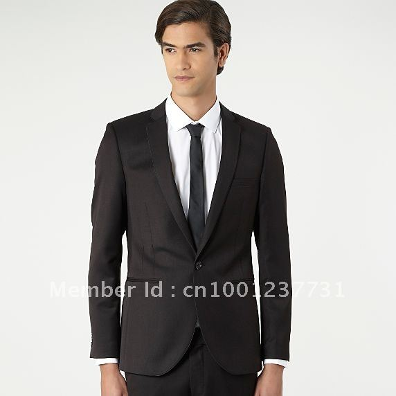 Black classic formal business men's clothing the groomsman dress dress(China (Mainland))