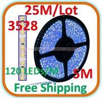 5pack /lot Waterproof 5 M blue LED 3528 SMD Rope Light 120 LED/M