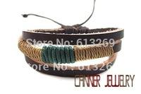 sl270/pu leather bracelet,high quality  bracelet,100%  Pure handmade jewelry ,wholesale ,leather men bracelet