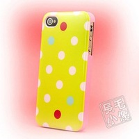 Soft Polka Dot Dots TPU Gel Case Cover for iphone 4 4S 4G, Free Shipping, A676