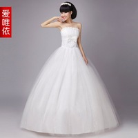 Love wedding pearl flower bride wedding love formal dress 2012 sweet princess wedding dress