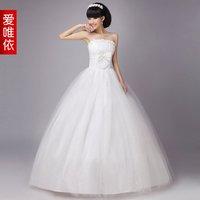 Love wedding pearl flower bride wedding love formal dress 2012 sweet princess wedding dress