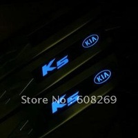 2012 wholesale Kia K5 K2 LED light luminescence welcome pedal the / stainless steel pedals