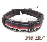 sl296/pu wholesale  leather bracelet,high quality  bracelet,100%  Pure  handmade jewelry ,wrap bracelet leather