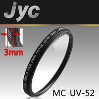 Free shipping/JYC 52mm MC UV-52 Pro1-D super slim wide band multi-coated UV lens filter   Y9032
