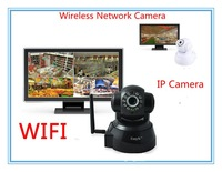 Dropshipping Wireless  Web CCTV Camera Top Quality IP Camera webcam Wifi Network IR NightVision P/T with Free Gift 1pcs/lot