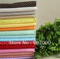 "18x18"" (45x45cm) set of cotton fabric,polka dot printed cotton textile for DIY,17 color mix ,34pcs Freeshipping"