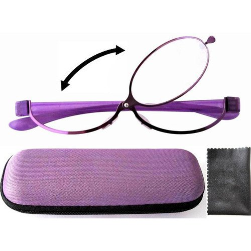 Free Shipping Patent Purple Magnifying Eye Makeup Make Up +1.50,+2.50,+2.75+3.00+3.25+3.50+4.0(China (Mainland))