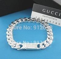 Free  shipping  925 silver male cowboy bracelet