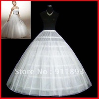 Promotion New Fashion White High Quality  Cheap Ball Gown Wedding Petticoat 2012 Free Shipping