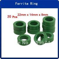 20pcs 22mm x 14mm x 8mm Power Transformer Ferrite Toroid Cores Green