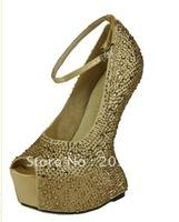 new arrive !No heels pumps crystal wedding shoes sexy high heel pumps open toe platform heels
