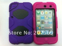 for touch 4 case,Hard cover survivor case for ipod touch 4 free shipping