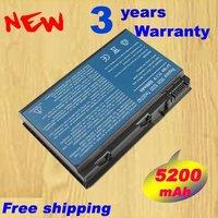6 CELL 5200mAh TM00741 Extensa 5210 5220 5420 5620 5620Z 5620 Laptop Battery 6Cells 11.1V 5200mAh
