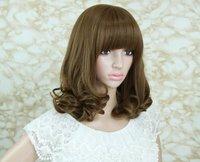2012 Hot sales,Pear head, in long hair, the hair end volume wig,free shopping.