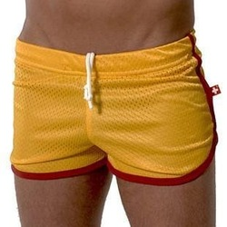 Free shipping /AC sexy mesh boxer shorts /Sexy/ Cultivation/Comfort home pants/gym shorts/gold color(China (Mainland))