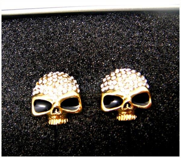 Diamond skull earphone , Diamond Metal Skull earphone , Free shipping 2pcs /lot , Diamond headphone(China (Mainland))