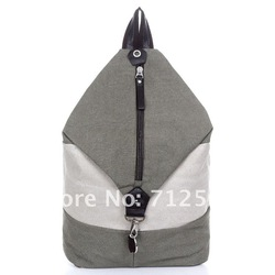 New style unisex canvas backpack school bag novelty travelling bag bucket bag retail and wholesale free shipping(China (Mainland))
