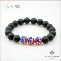 Olympic games bracelets america flag bracelets shamballa beads bracelets couple chain 20pcs/lot