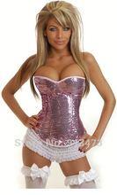 shipping blue satin corset