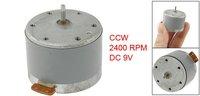 DC 9V 2400RPM CCW Mini Motor 33mm Diameter for DVD Player