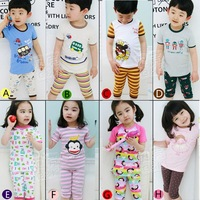 2012 summer cartoon boys clothing girls clothing baby short-sleeve derlook set tz-0426