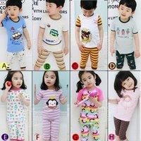2012 summer cartoon boys clothing girls clothing baby short-sleeve derlook set tz-0426