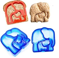 Wholesale-free shipping Kitchenware Vegetable Food Bread Cutter Elephant Shape Sanwich Toast Mould free shipping