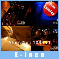 4pcs Flash Interior Dash Floor Decoration Light Lamp Cigarette Lighter , free shipping