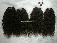 "free shipping best quality #1 jet black  hot sale 20""  63g/bundle 5bundles/lot Italian curl Indian human remy hair weft"