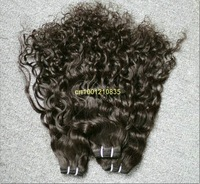 "free shipping best quality Indian human hair weft 5bundles/lot  hair extension 16"" color #4 63g/bundle Italian curl"