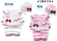 Hot wholesale!!! Free shipping 100% cotton cute design long sleeve baby girl's dress suits
