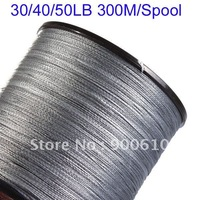 Super Strong 100% UHMWPE Fishing Line 4-Braid 30LB/40LB/50LB 300Meters/Reel Free Shipping