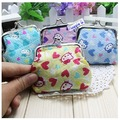 Free Shipping Hellokitty cartoon cotton cloth mini Portable Hasp Wallet Phone bag Coin purse wholesale