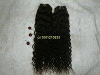 "83g/bundle free shipping Indian human remy hair 5bundles/lot  Italian curl 28"" #1b"