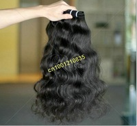 "free shipping top quality super soft french curl Indian human remy hair weft good sale 3pcs/lot 12""~28"""