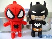 super hero batman / spiderman / hulk /capitan america 1GB 2GB 4GB 8GB 16GB 32GB USB Drive flash Memory Pen Drive free shipping