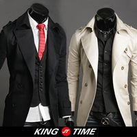 Kingtime Freeshipping Men's Fashion Windbreaker , Cotton Dust Coat, Casual Men's Jacket, KTG20