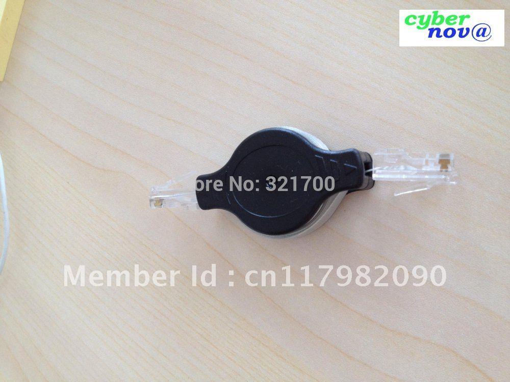 Free-shipping 1.5M long Portable Retractable network cable (8 pins)(China (Mainland))