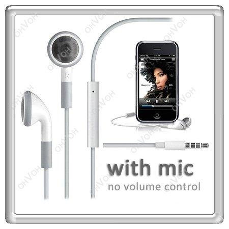 S5H Handsfree Earphone Headphone With Mic Microphone For iPhone 2G 3G 3GS 4 4S(China (Mainland))