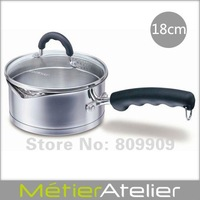 18cm sauce pan with spouts 18/10 stainless steel giftbox packing K0087