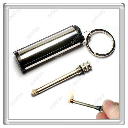 S5H Metal 15000 Times Flint Match Box Lighter Hikng Camping Hunting Tools Gifts(China (Mainland))